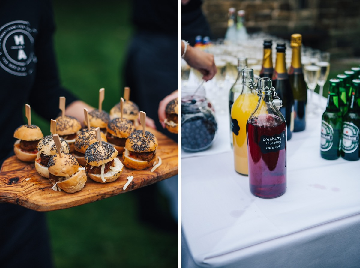 Wedding food and drink, East Riddlesden Hall.