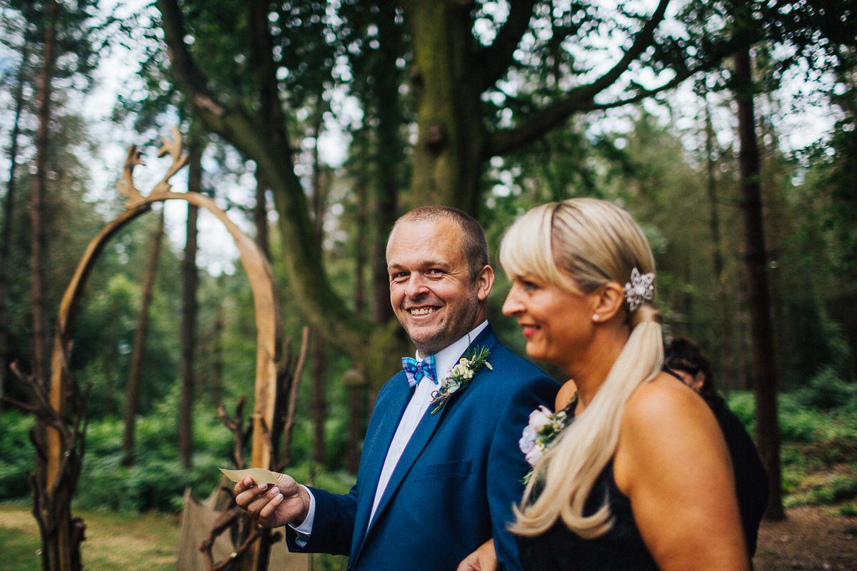 Outdoor wedding Delamere Cheshire
