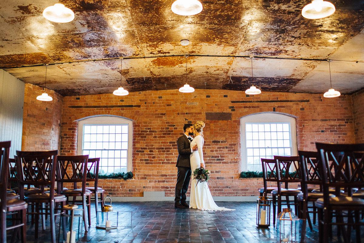 Winter west mill wedding