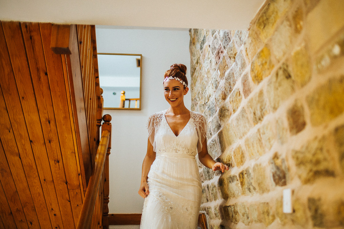 Bride wearing Jenny Packham dress
