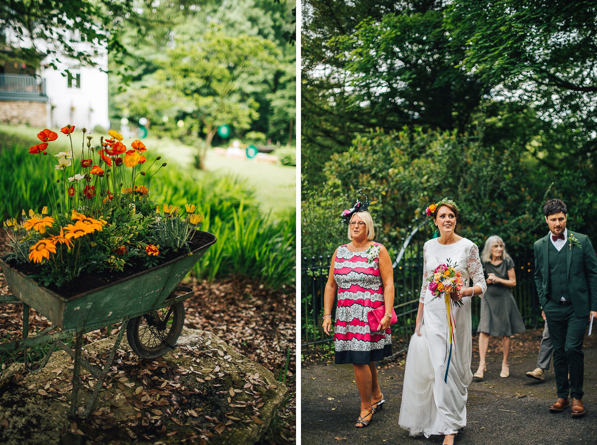 Rustic country wedding Spring Cottage Rivington