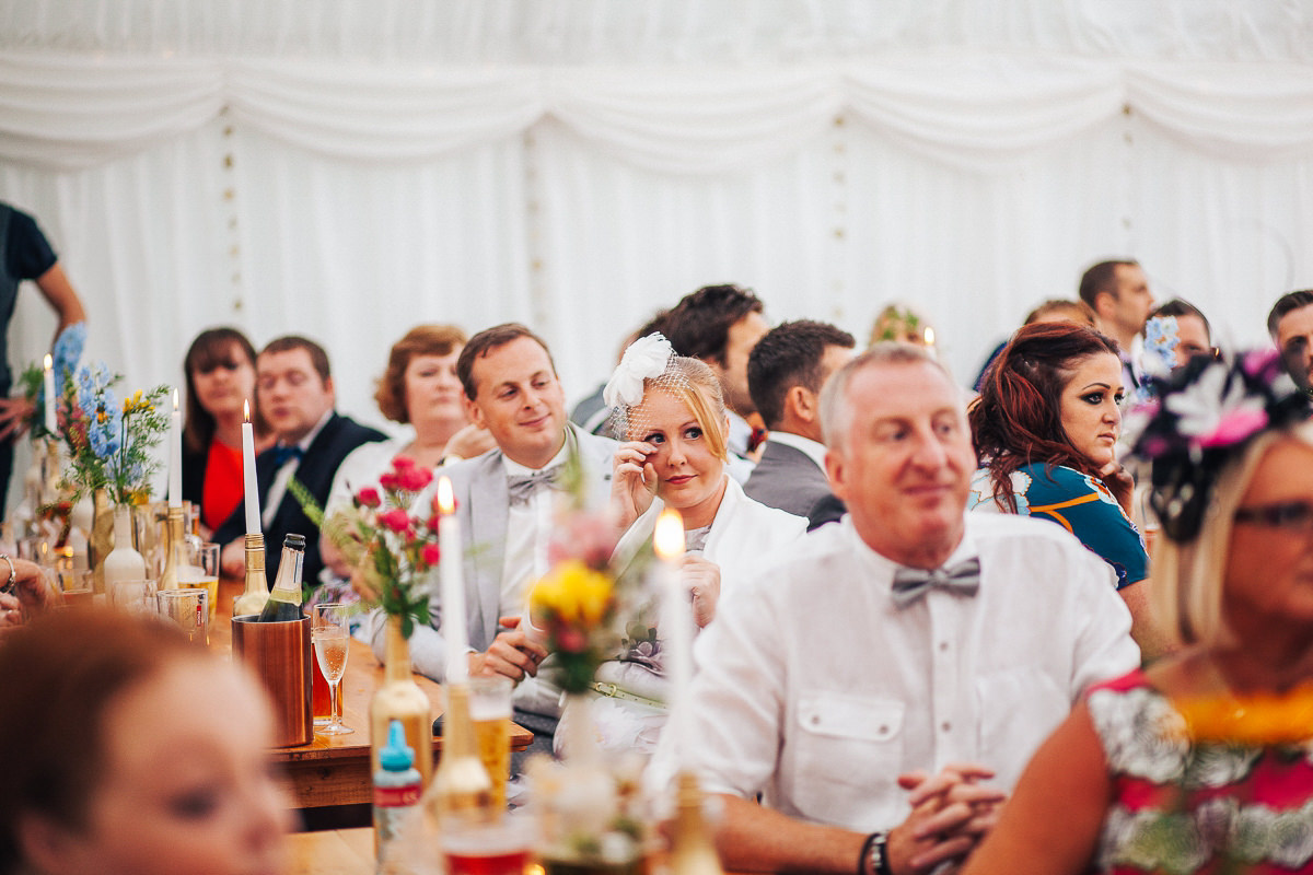 Speeches Spring Cottage wedding Lancashire