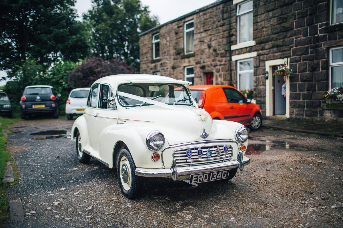 Morris minor wedding car Lancashire
