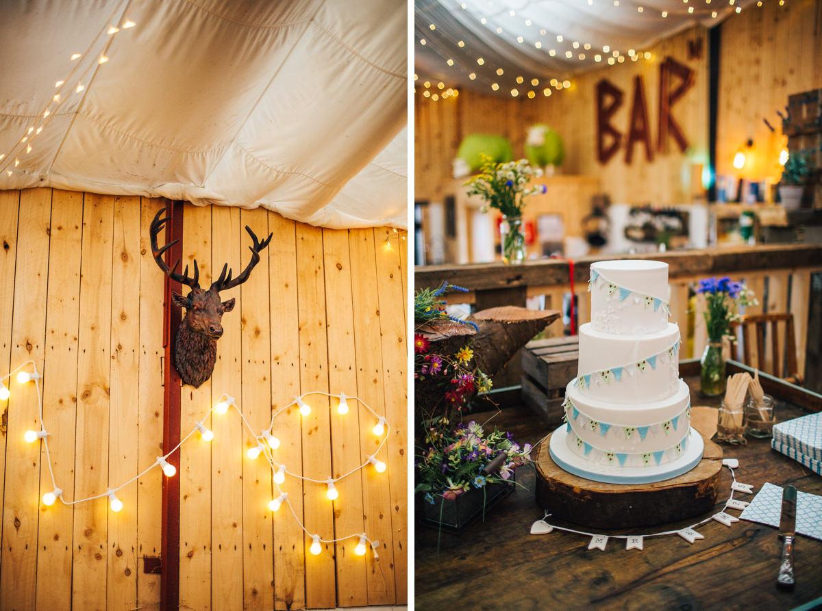 Rustic wedding cake Lancashire