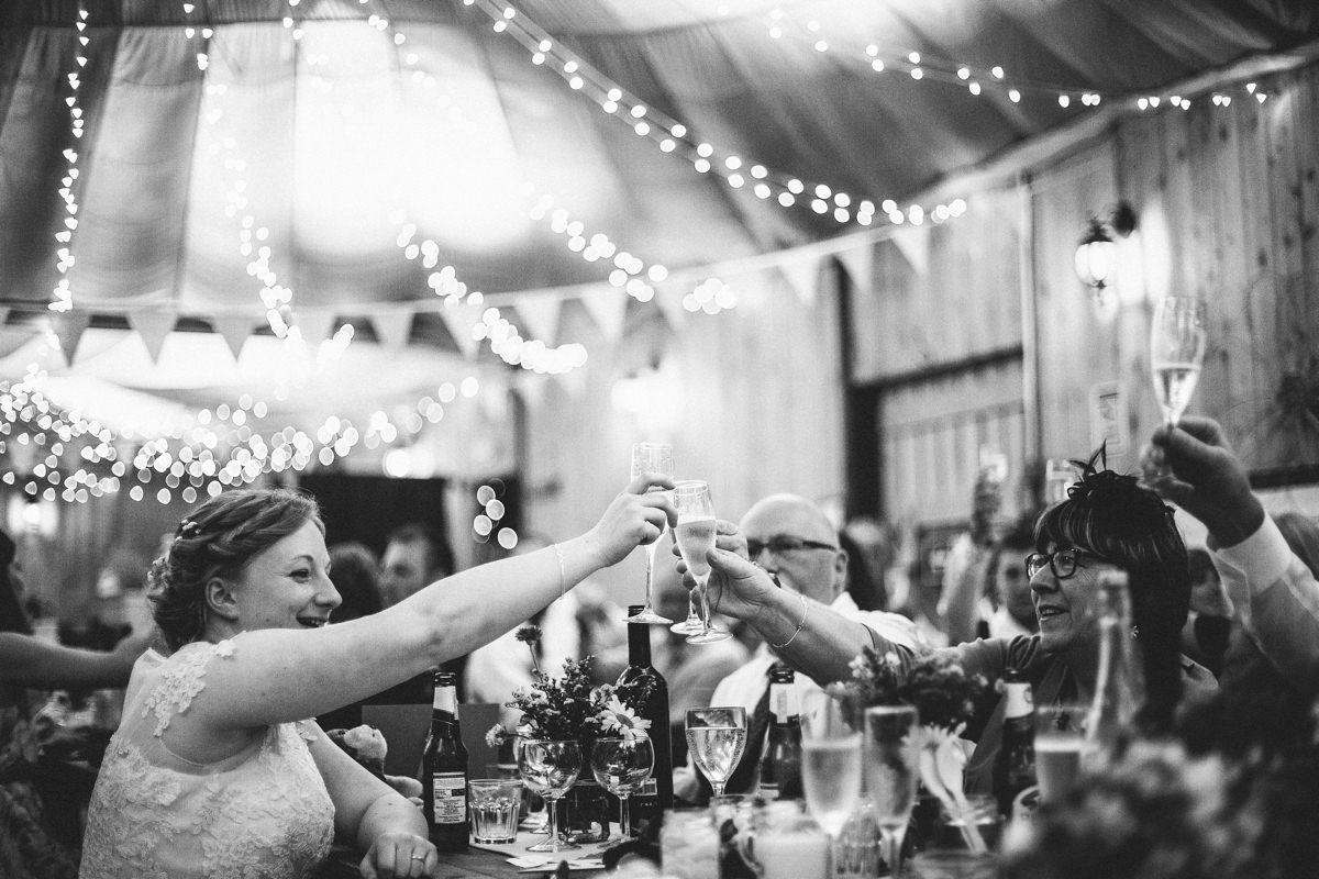 Wedding toast - Lancashire wedding