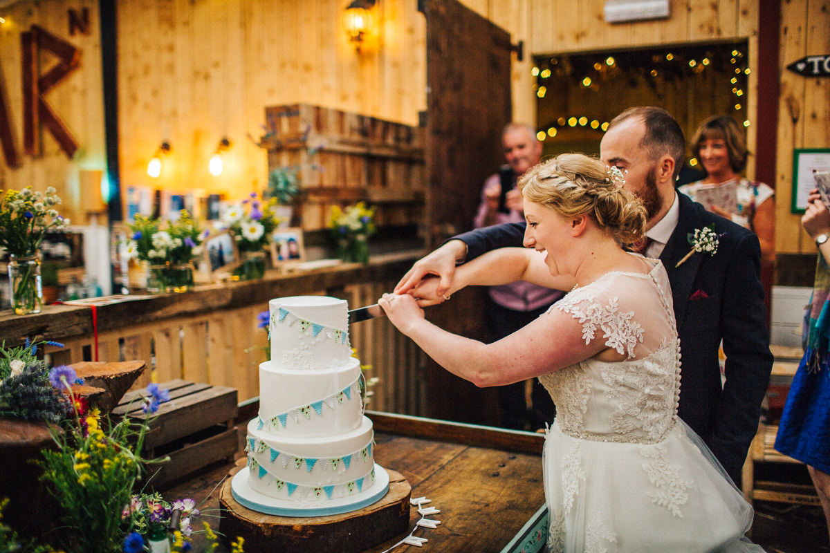 Cutting the cake - The Wellbeing Farm