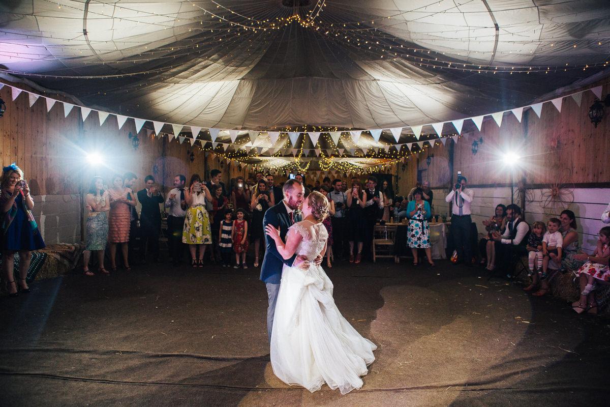 Beautiful first dance - Wellbeing Farm Wedding