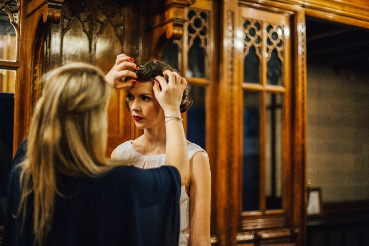 Vintage bridal hair Manchester