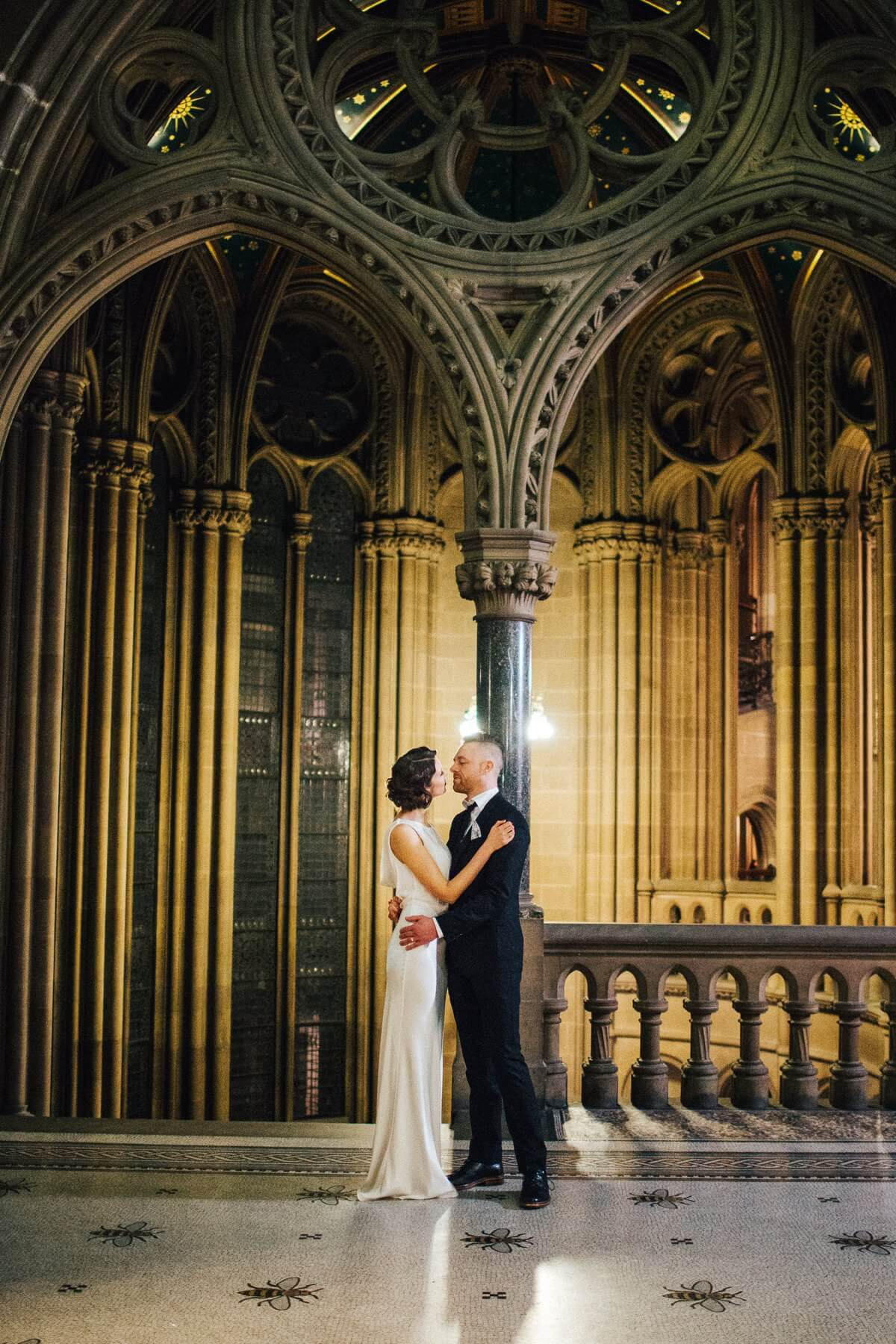 City centre wedding in Manchester's Town Hall