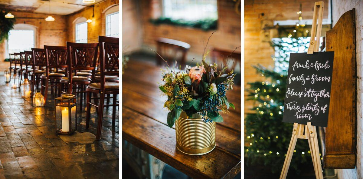 Gold themed winter wedding