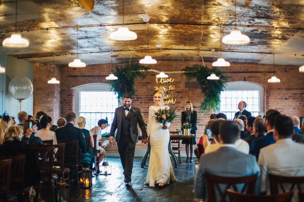 Industrial wedding in Winter
