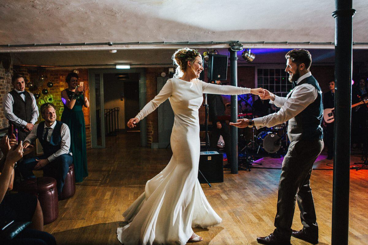 First dance at the Industrial wedding