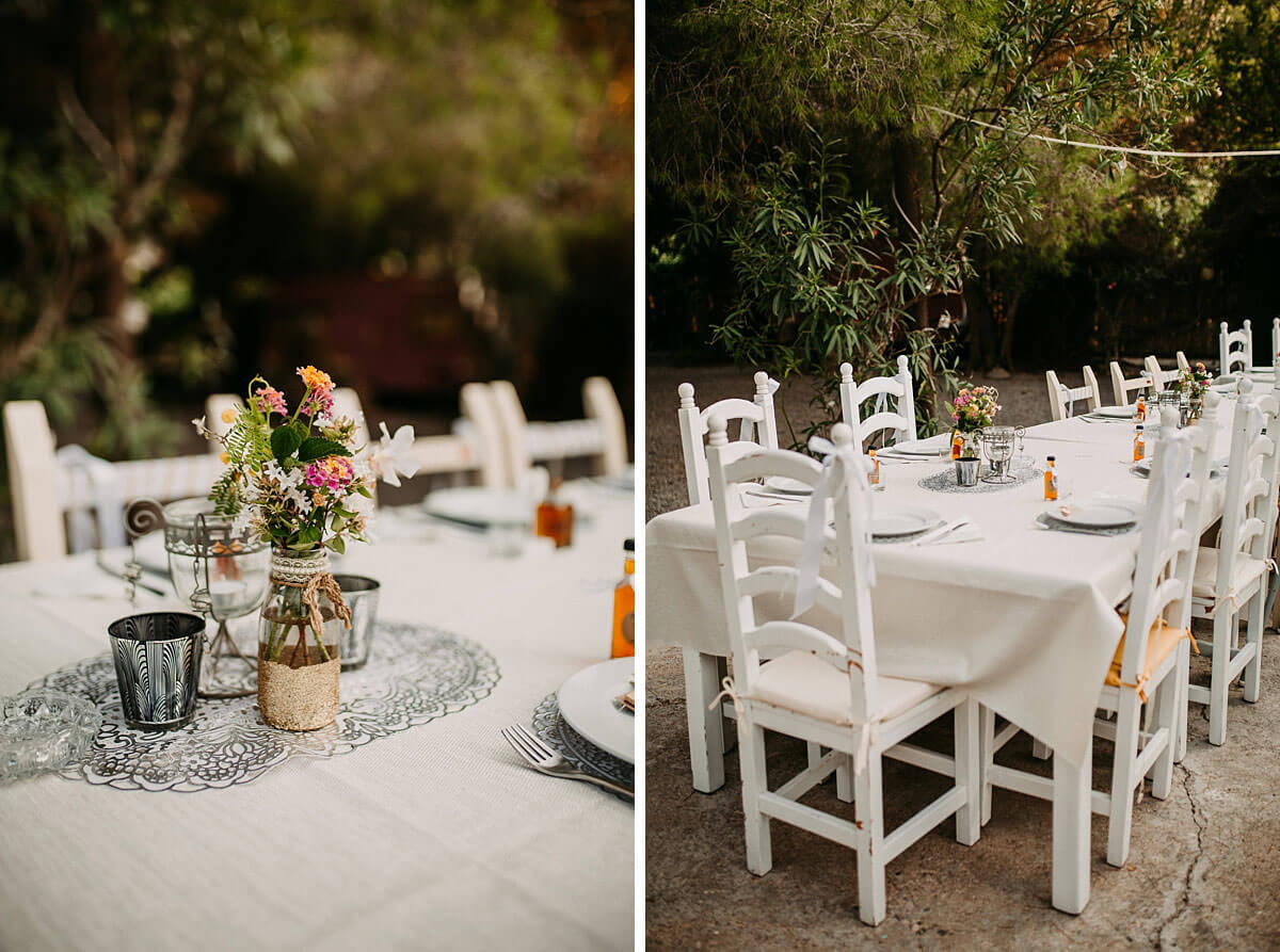 Outdoor wedding details