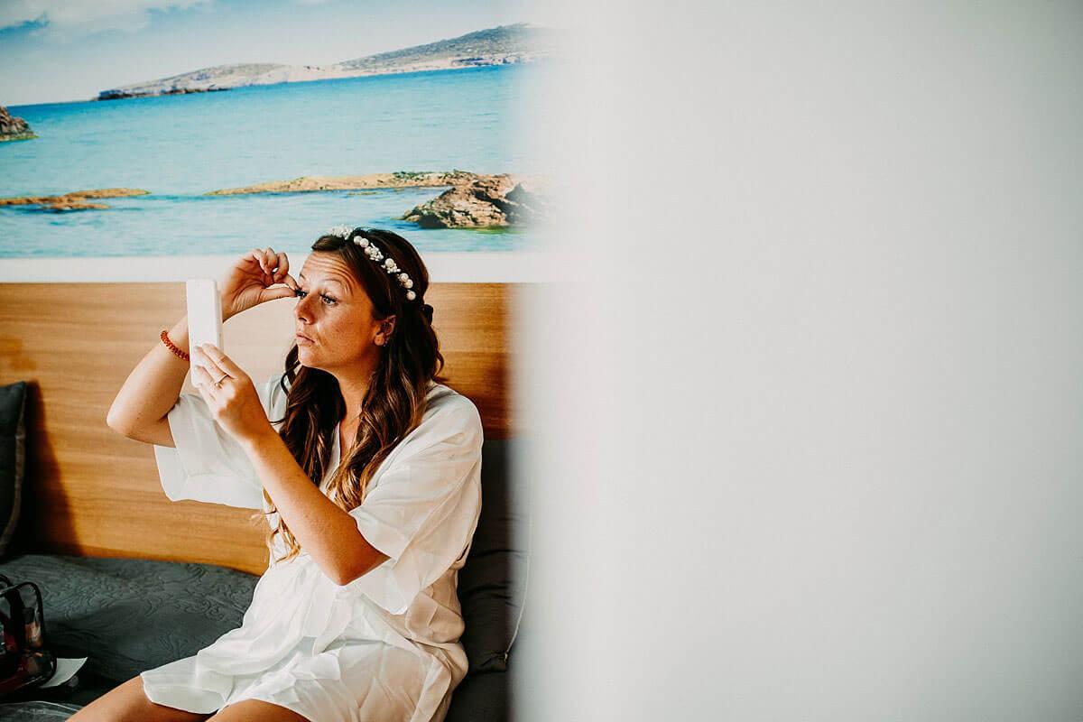 Bridal preparations - Ibiza wedding