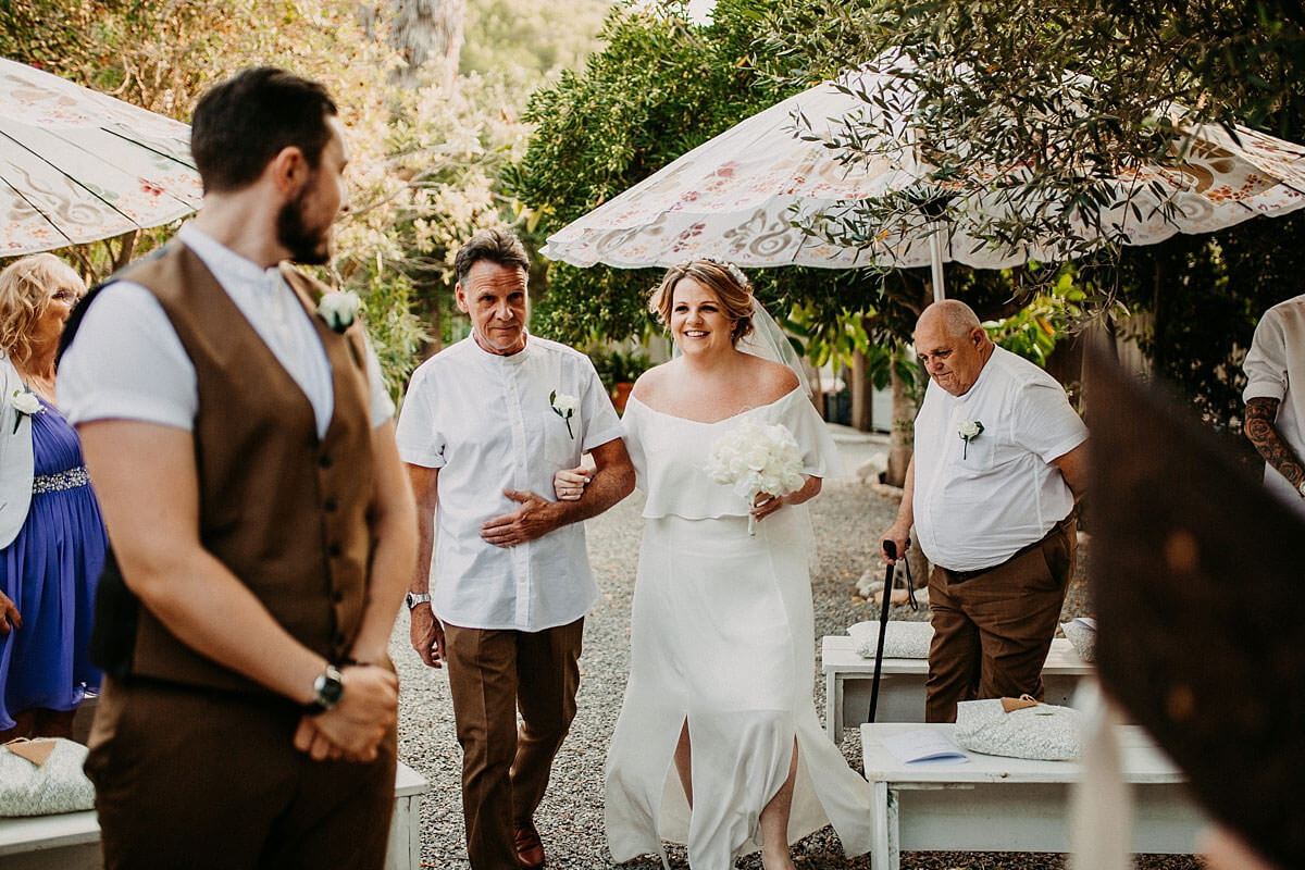Outdoor wedding ceremony Ibiza