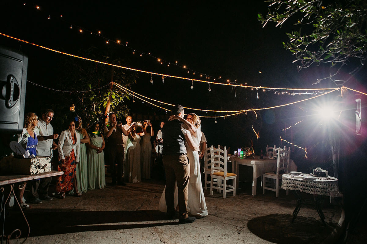 Outdoor first dance
