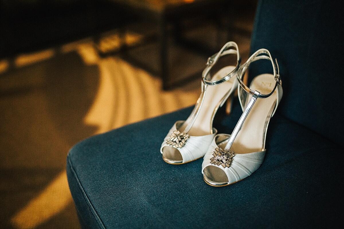 Jenny Packham t-bar wedding shoes