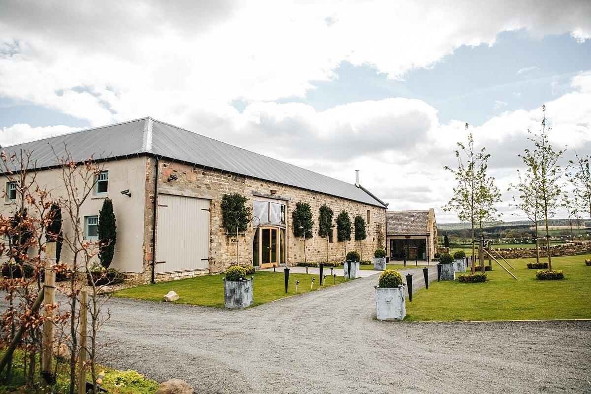 Healey Barn rustic wedding venue Northumberland