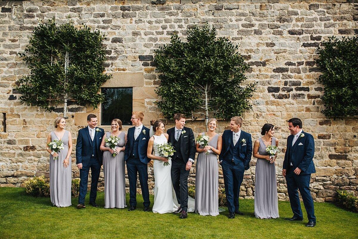 Creative bridesmaids and ushers photo