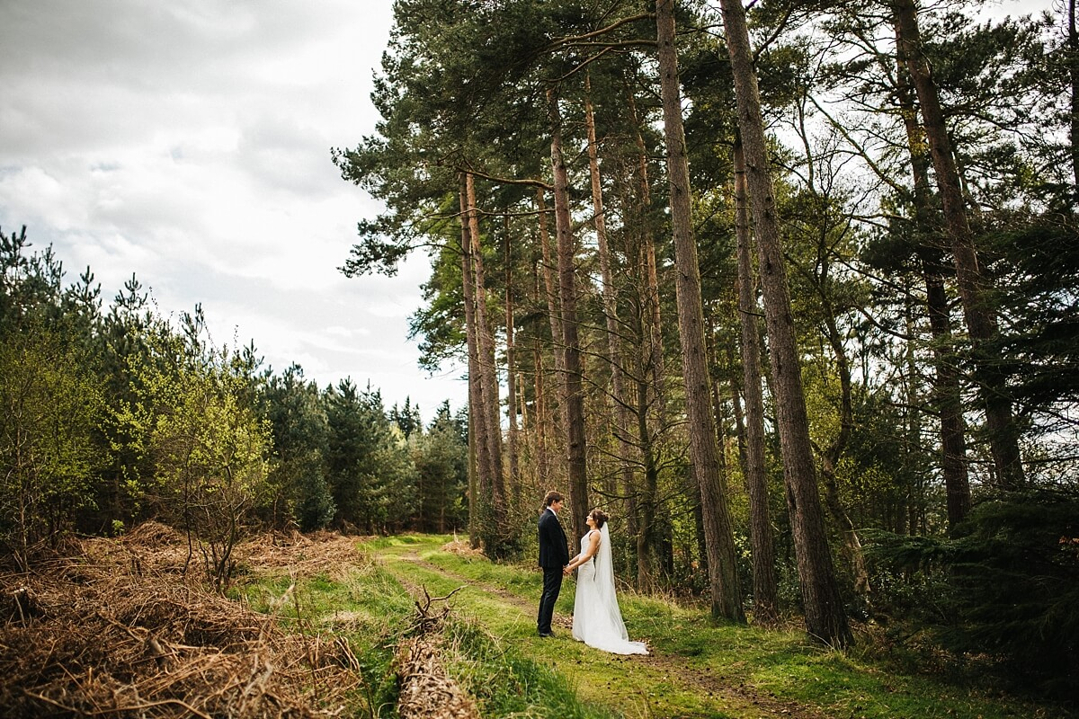 Natural forest wedding photography