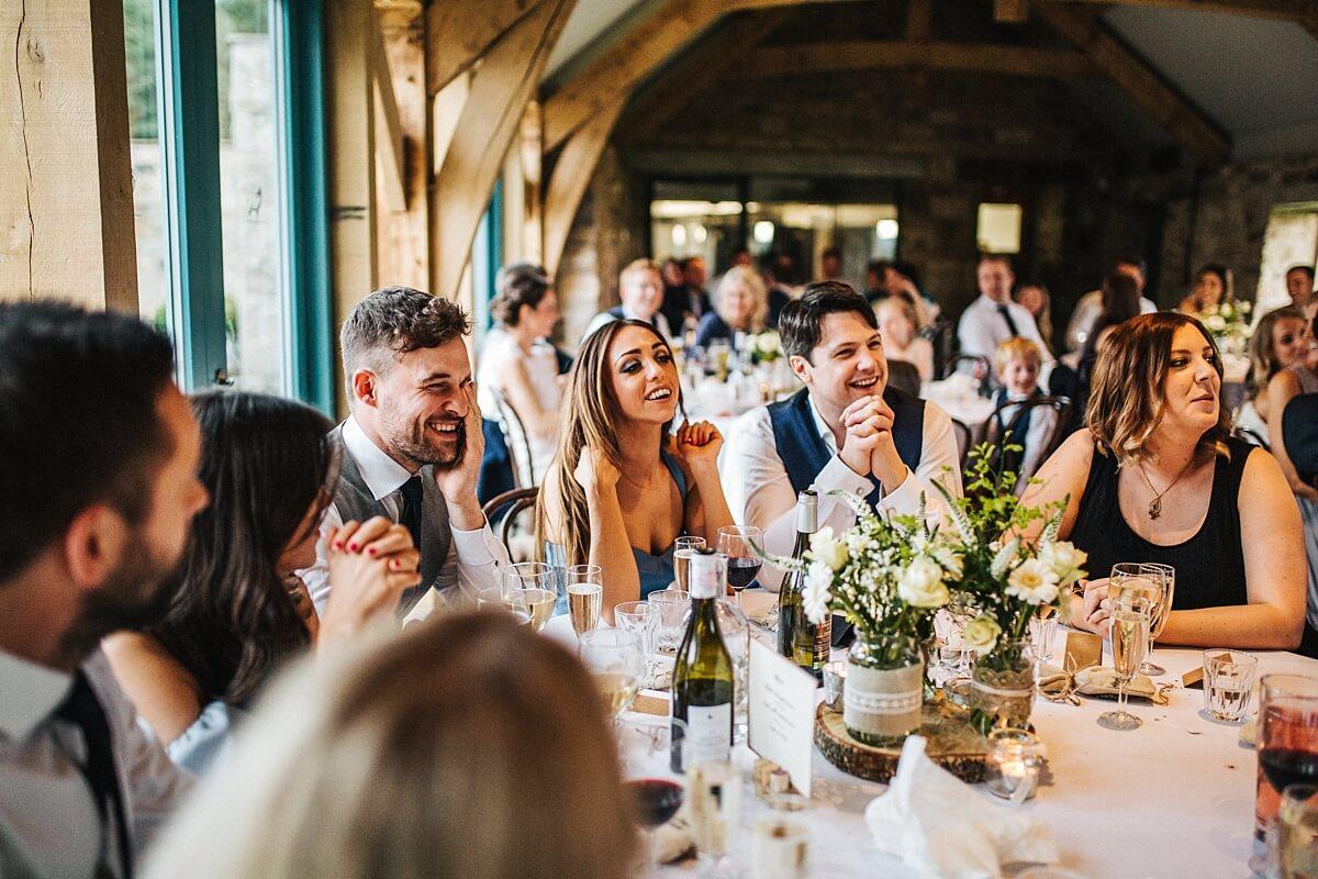 Wedding speeches Healey Barn