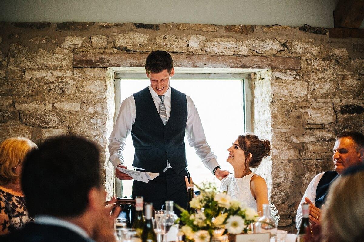 Emotional groom's speech