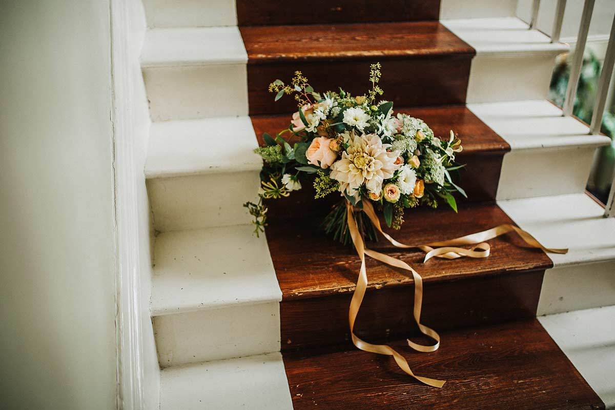 Swallows and Damsons wedding bouquet