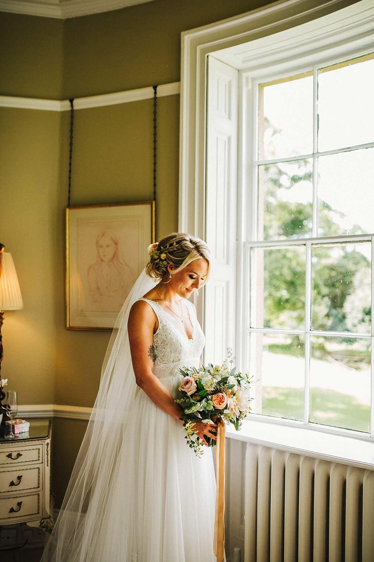Beautiful boho bride wearing Mirror Mirror