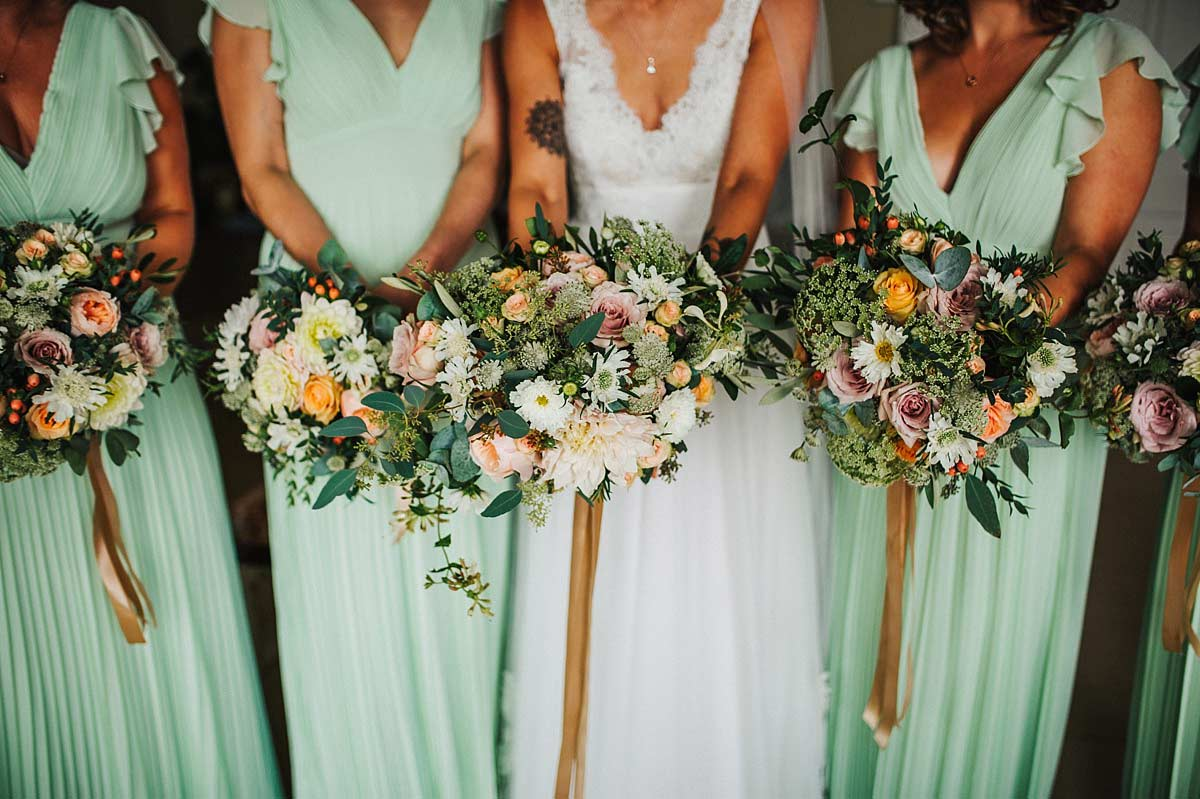 Swallows and Damsons wedding bouquets