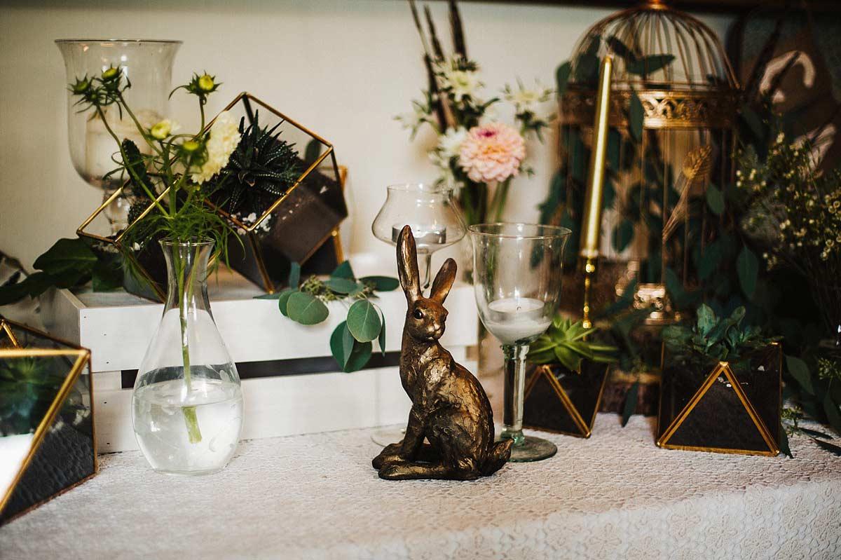 Woodland wedding details