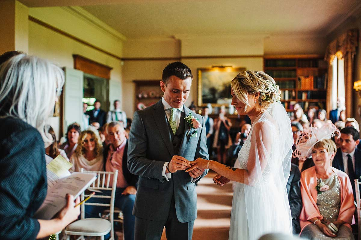 Wedding ceremony at East Bridgford Hill