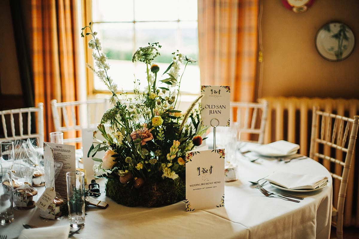 Swallow and Damsons table decor