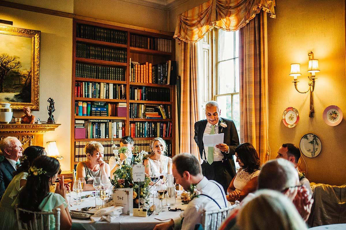 East Bridgford Hill wedding breakfast room