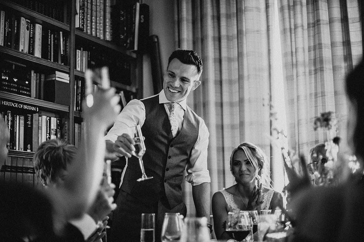 The groom's wedding speech