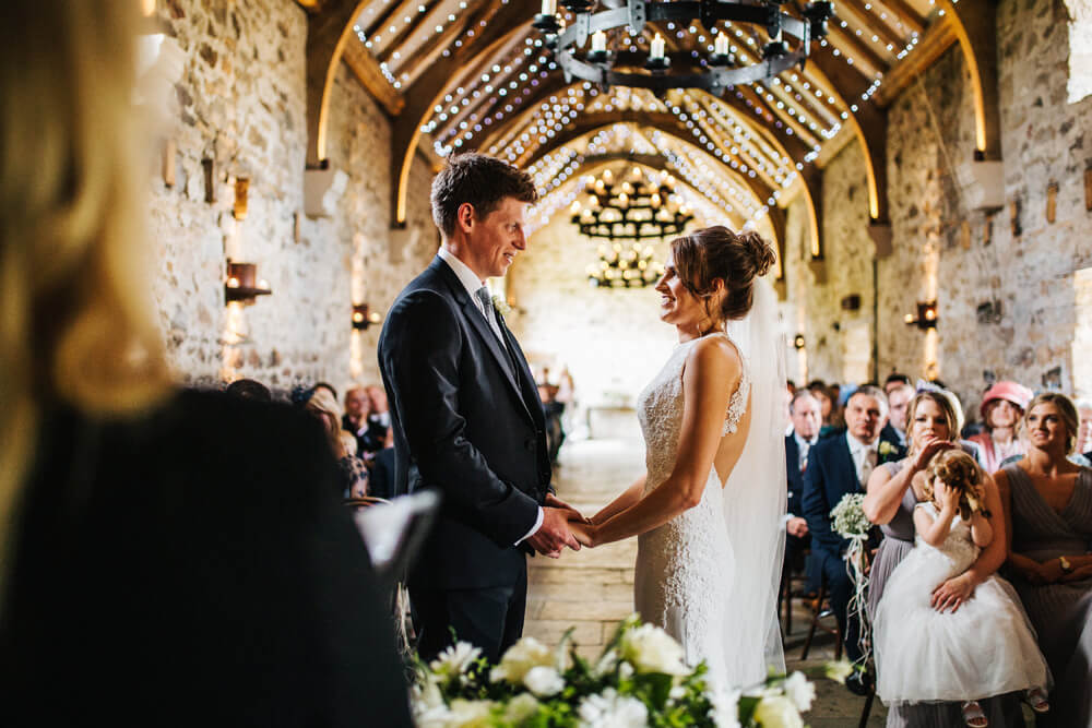 Rustic barn ceremony Northumberland