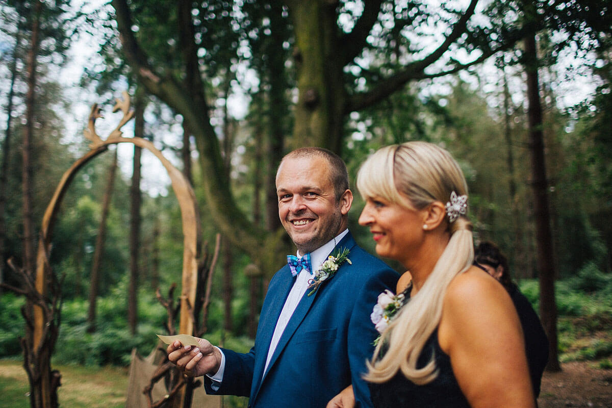 Cheshire woodland wedding