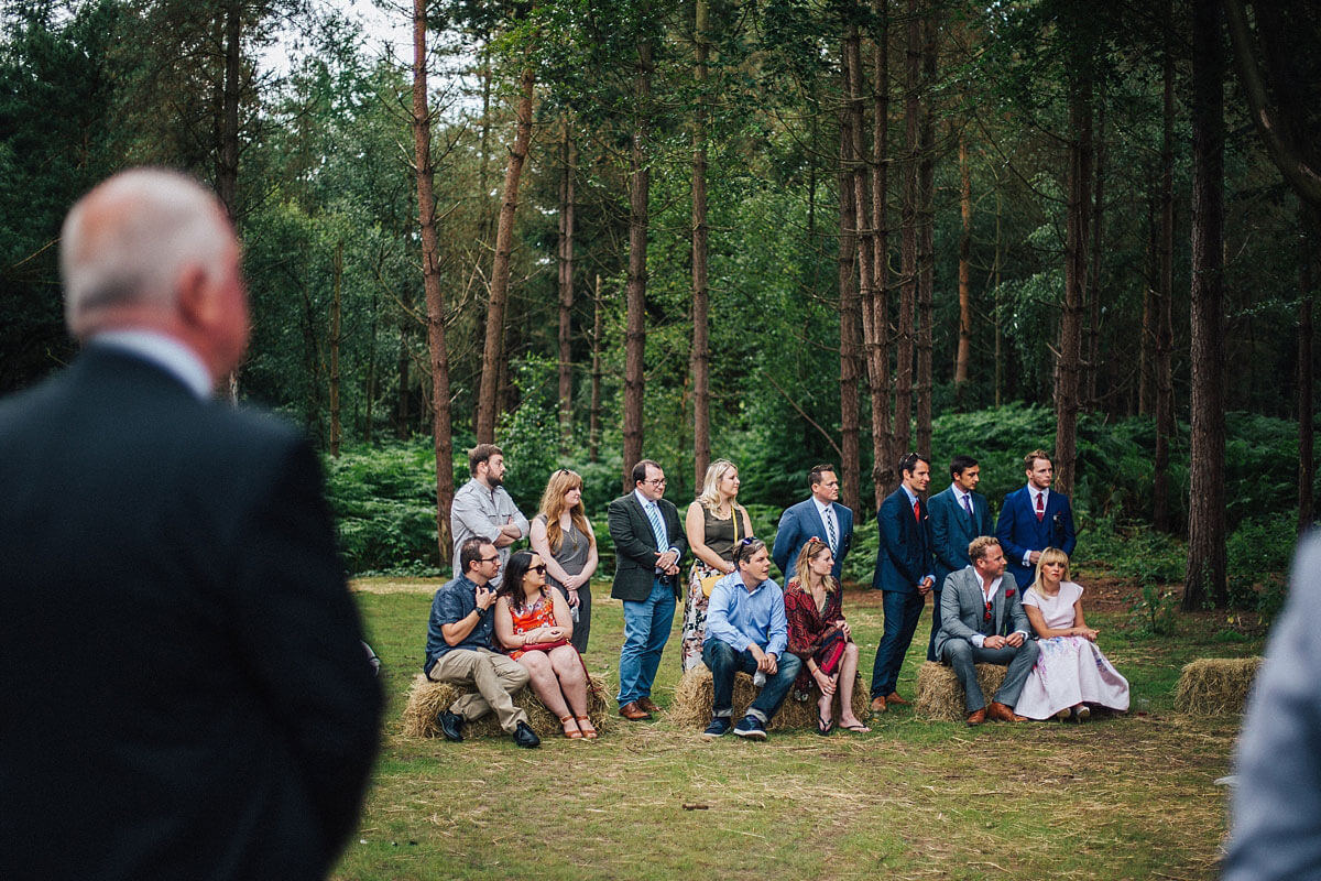 Outdoor woodland wedding Cheshire