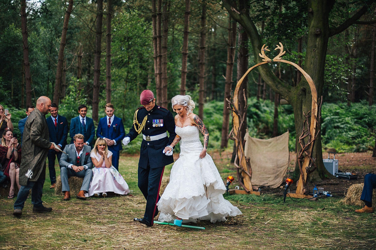 Jumping the broom - handfasting rituals