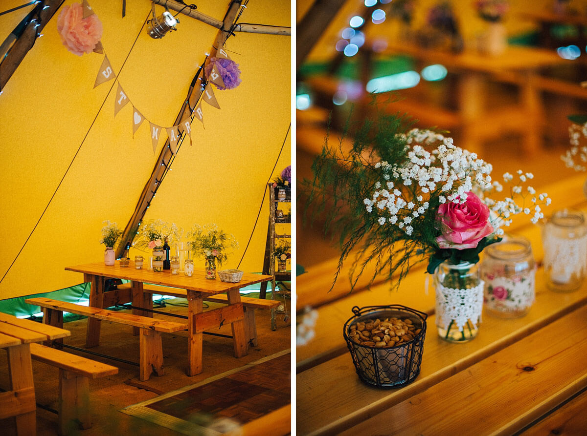 Wedding Tipi decorations