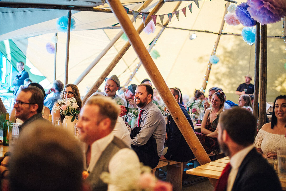 Speeches inside the tipi