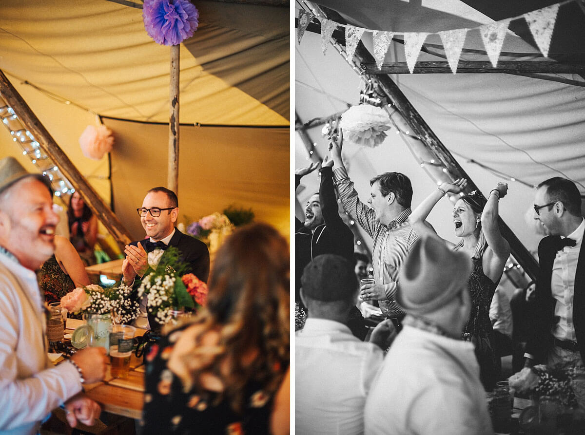 Fun tipi wedding