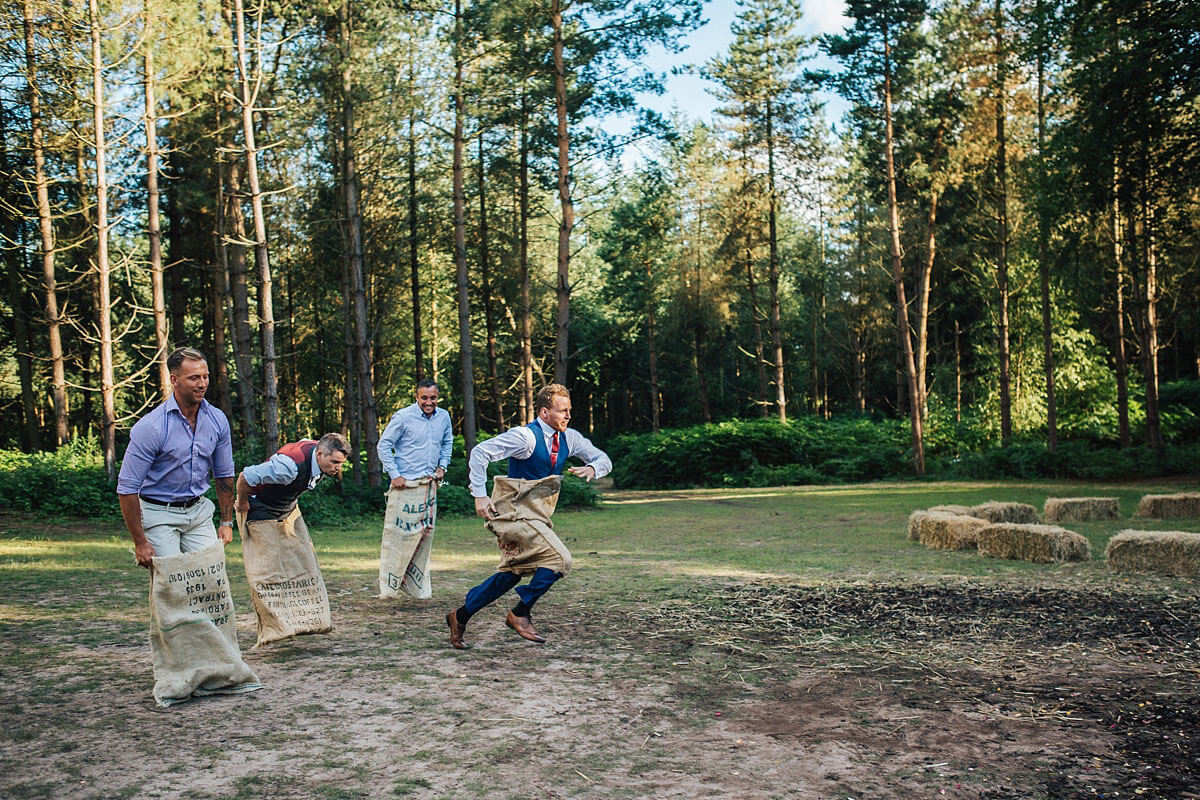 Fun outdoor wedding games