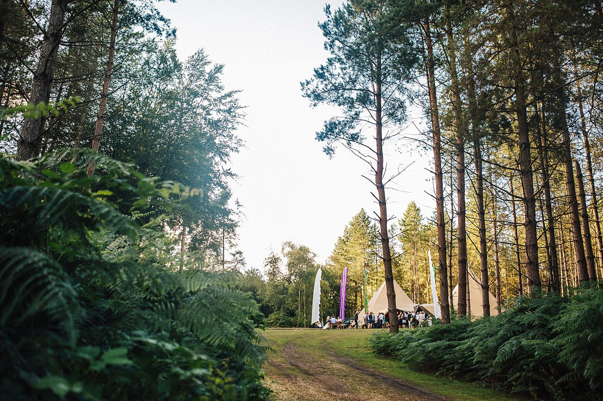 Tipi wedding Delamere Forest