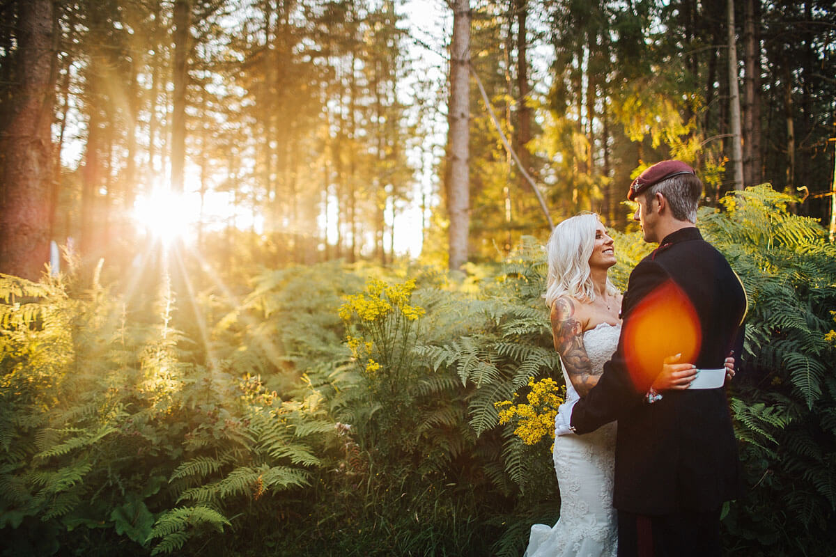 Beautiful forest wedding photography