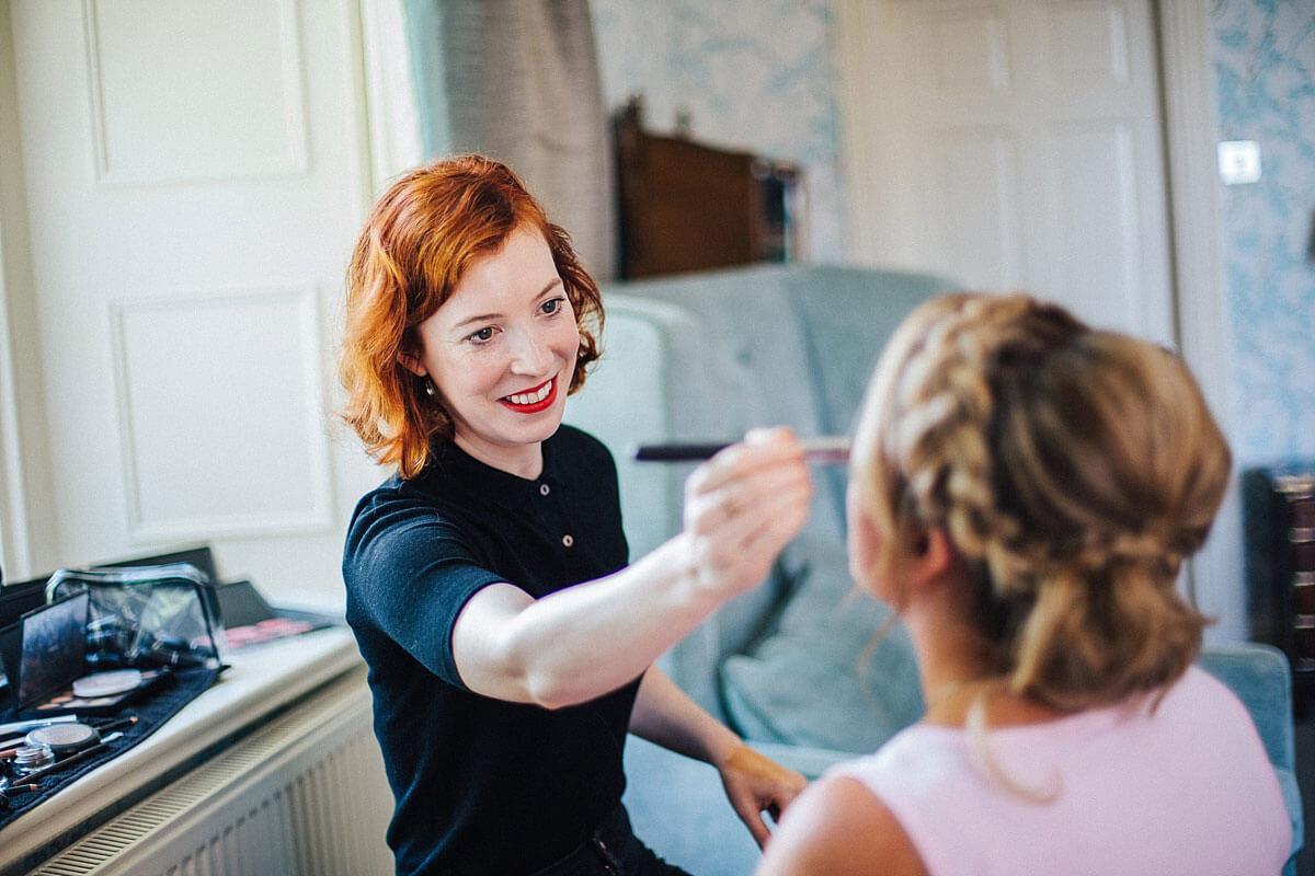 Rebecca Anderson wedding makeup