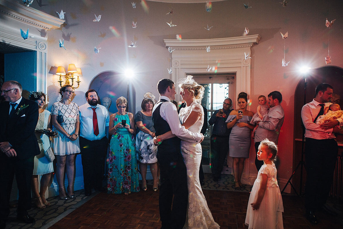 First dance at Storrs Hall wedding