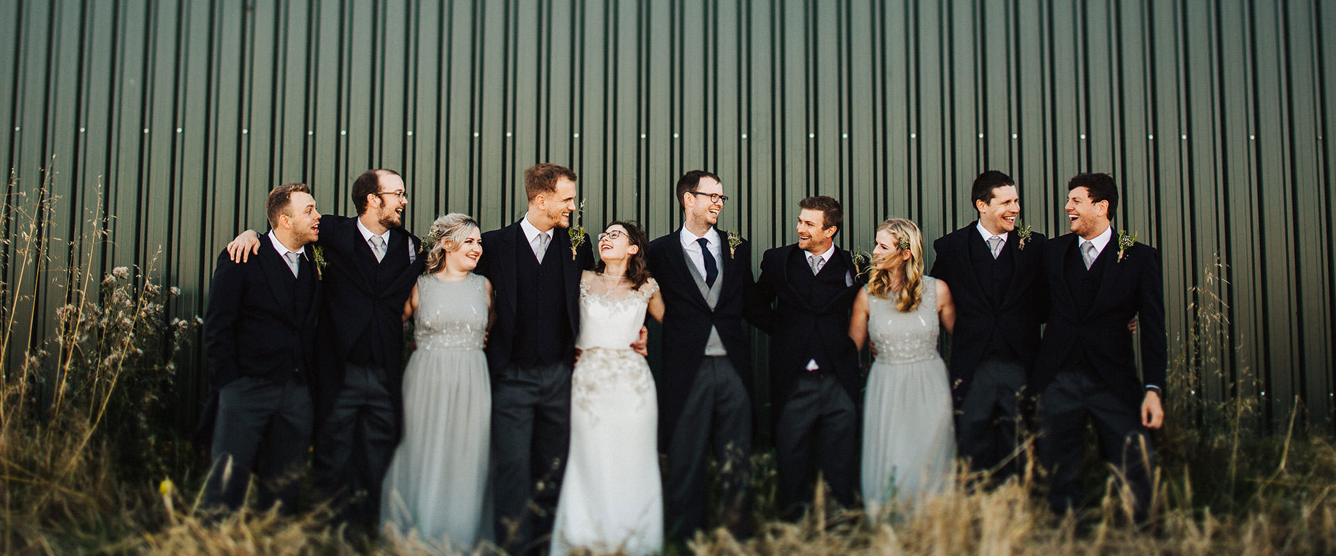 Fun outdoor wedding Cheshire