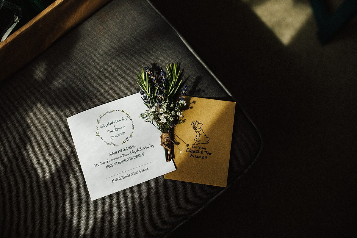Foral wedding invites