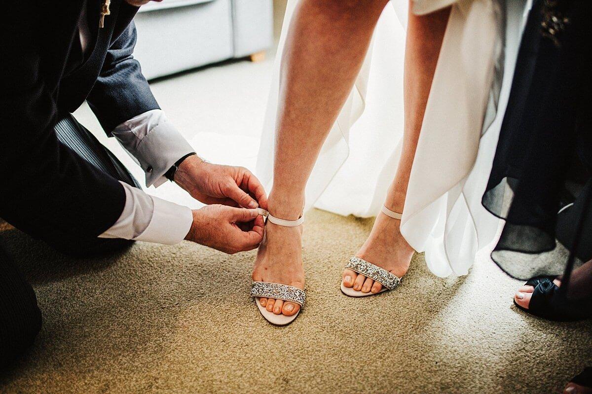 Silver Miss KG bridal shoes