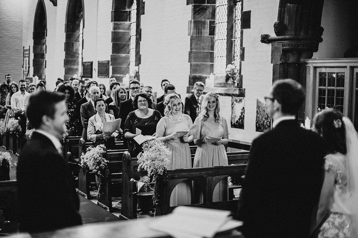 Relaxed church wedding Cheshire